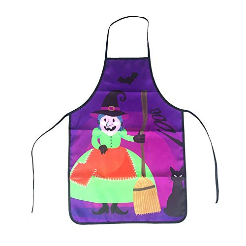 NiceWave Halloween Apron Fun Creative Aprons Halloween Cosplay Costume for Chef (Witch, 1Pc) from NiceWave