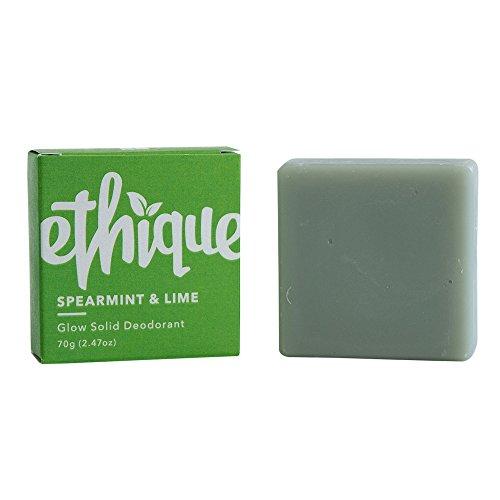 Ethique Eco-Friendly Glow-Solid Deodorant, Spearmint & Lime 2.47 oz
