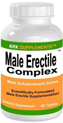 Male Erectile Complex 3220mg per serving Male Enhancement Penis Erection Dysfunction 90 Tablets KRK SUPPLEMENTS