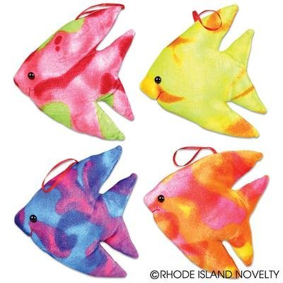 Plush colored fish stuffed toy animals blk pack of 12