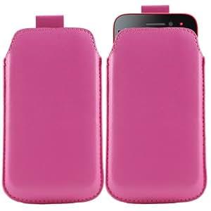 iTALKonline ROSA CALIENTE Calidad PU de cuero antideslizante funda de protección bolsa con pestaña para LG P920 Optimus 3D