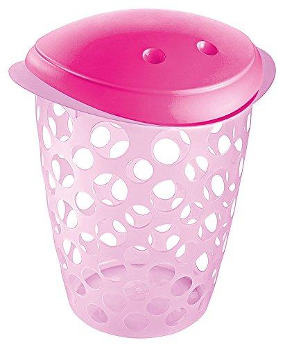 Cesto Roupas Infantil Sanremo Rosa Bebe Plástico