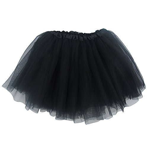 Ballerina Basic Girls Dance Dress-Up Princess Fairy Costume Dance Recital Tutu (Black)