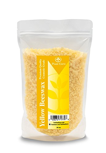 Beeswax Yellow Pastilles Pellets Granules 1 Lb. Premium Quality, Cosmetic Grade, Triple Filtered