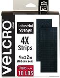 VELCRO Brand Heavy Duty Fasteners | 4x2 Inch Strips