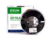 eSUN 1.75mm Black ABS 3D Printer filament 1kg Spool (2.2lbs), Black from ESUN