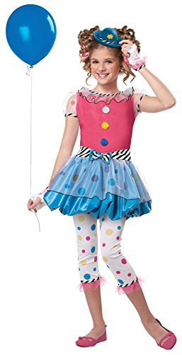 Polka Dot Circus Costume (California Costumes Polka Dot Clown Costume, One Color, 6-8)