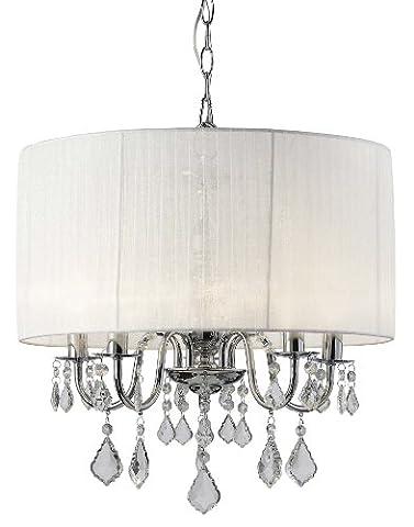 Canarm ICH438A05CH18 Sarah 5-Light Chandelier - Elegance Ceiling Light