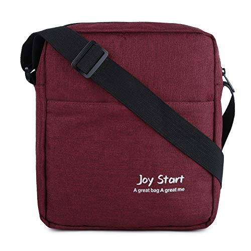 Victoriatourist Vertical Messenger Bag for iPad-Mini and Tablets Upto 8.1-Inch (Wine Red)