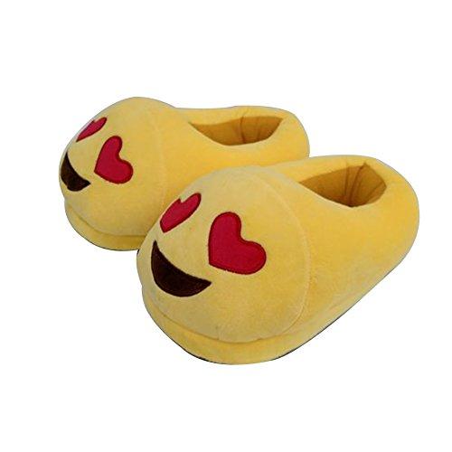 chaussures des jolie d'hiver chaud Eyes bd doux Heart smiley slipers pantoufles 7q67TwxrA