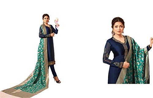(REKHA Ethinc Shop Bollywood Designer Salwar Suits Georgette Cream Color Woman's & Girls)