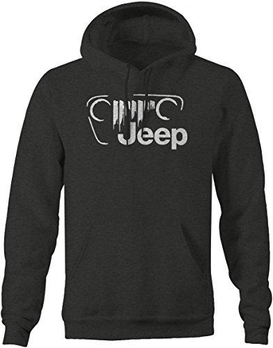 - Jeep Vintage Off Road Grill Logo JK TJ CJ Sweatshirt -Medium