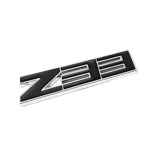 UrMarketOutlet Z33 Black/Chrome Aluminum Alloy Auto Trunk Door Fender Bumper Badge Decal Emblem Adhesive Tape Sticker