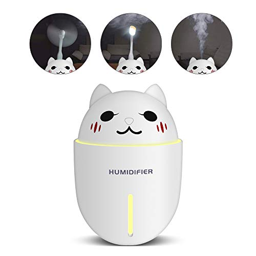 MONOLED Cool Mist Humidifier, Air Humidifier, 3 in 1 Cool Mist Humidifier + Cooling Fan + Night Light, Essential Oils Diffuser Cool for Home Office Baby Bedroom Study Spa Yoga with Filter