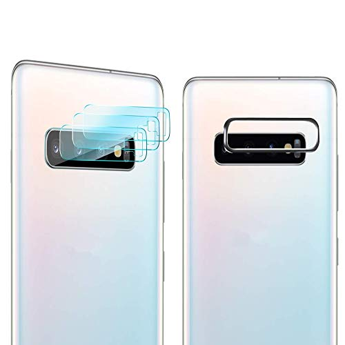 iAnder [3-Pack] Camera Lens Screen Protector Compatible Galaxy S10 Plus/S10 - Tempered Glass Camera Lens Screen Protector with Cover Case