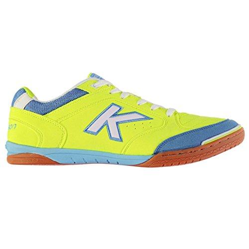Kelme Zapatillas de deporte para hombre, de precisión para interior, con cordones, Lime/White/Blue, UK 10 (45)