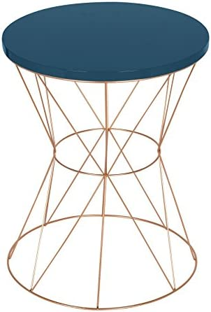 Kate and Laurel Mendel Round Metal End Table