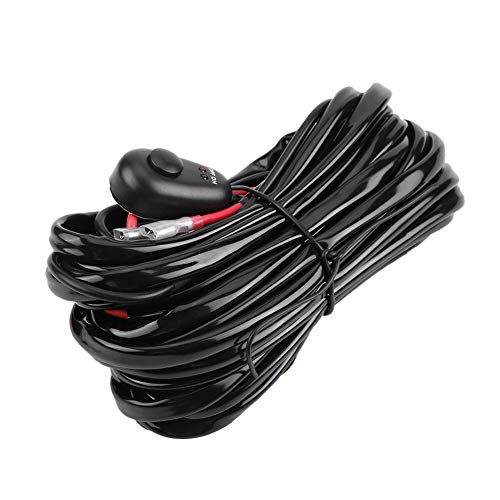 Car Wiring Harness, Car Power Switch and Wiring Harness Kit for LED Light Bar (#2):