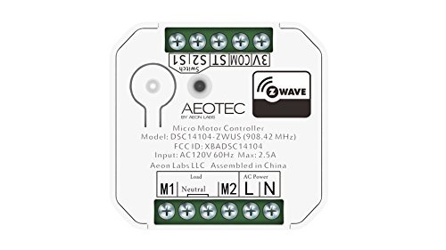Aeotec by Aeon Labs DSC14014 Micro Motor Controller, Small, White by Aeon Labs