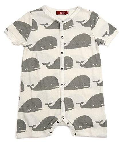 MilkBarn Organic Cotton Shortall Grey Whale 12-18 Months ()