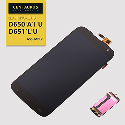 for BLU Studio 6.0 HD D650 D650A D650I D651 D651U D651L Assembly LCD Display Touch Screen Digitizer Panel Full Replacement Part