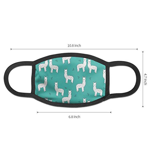 Fashion Earloop Face Masks, Anti-Dust Pollenm Smog Face and Nose Cover with Adjustable Elastic Strap, Cute Llamas Baby Alpaca Medical Mask