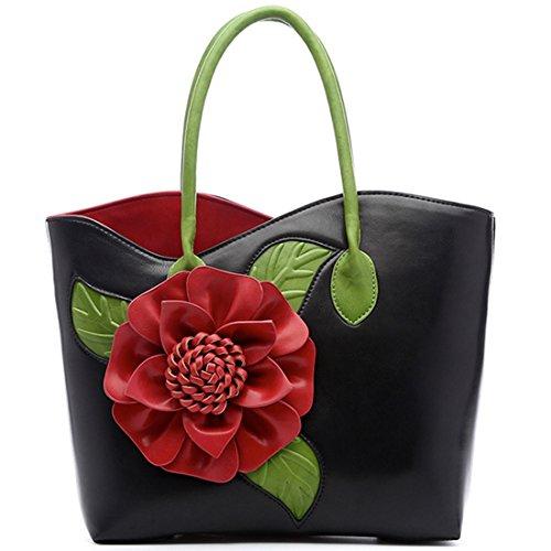 Main Mariage Sac épaule Noir Partie de Sac Porté Messager Sac à Sac KAXIDY Bandoulière Sac Fleur 1fqwgwpC