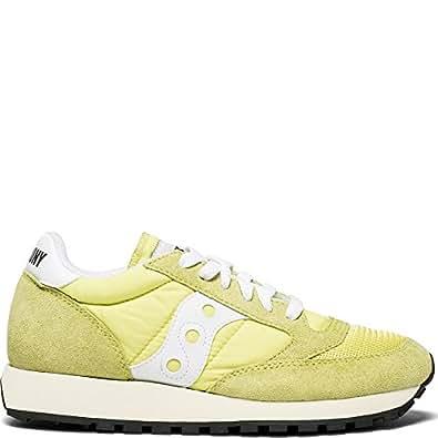 Saucony Originals Women's Jazz Vintage Running Shoe, Yellow/White, 5 Medium US