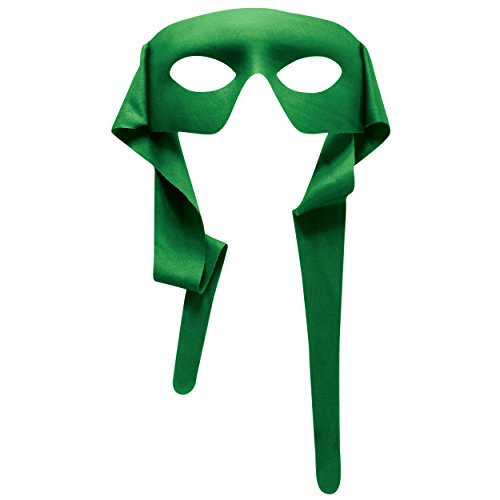 MyPartyShirt Green Eye Mask with Ties -