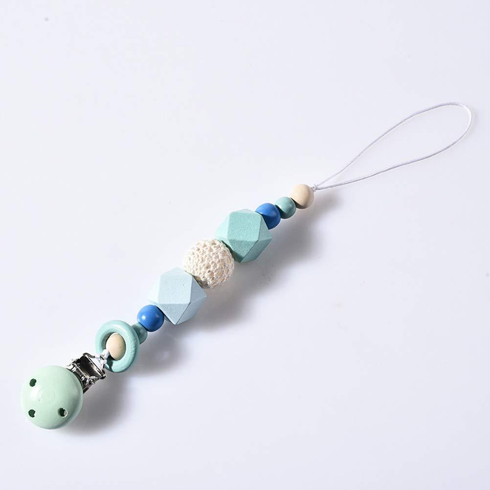 SUPVOX Cadena para Chupetes de Perlas Chupetero para Ni/ños y Ni/ñas azul