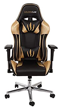 GoldenClaw PC Gaming Chair – Ultra Racing Bucket Seat Office Chair Ergonomic Computer Chair Esports Desk Chair Executive Chair Velour Pillows