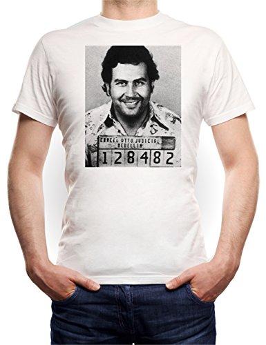 Pablo Mugshot T-Shirt Bianco