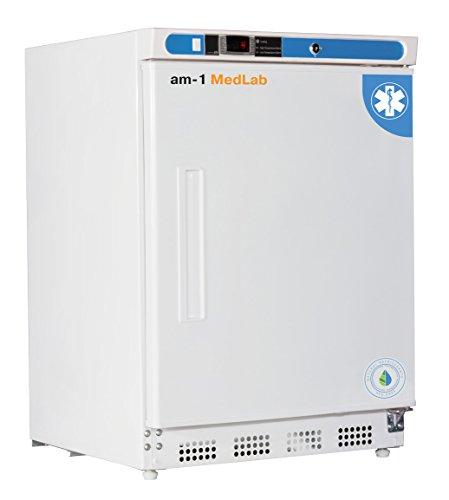 am-1 AM-LAB-UC-RSP-04 Undercounter Medical/Laboratory Refrigerator, MedLab Premium Solid Door 4.6 cu. ft,33.4