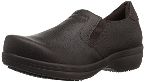 Easy Works Women's Bind Health Care Professional Shoe, Brown Embossed, 9 W US by Easy Works