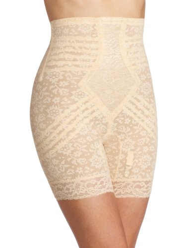 Rago Women's Plus-Size Hi Waist Long Leg Shaper, Beige, 6X-Large (42) (Extra Firm Control Long Leg)