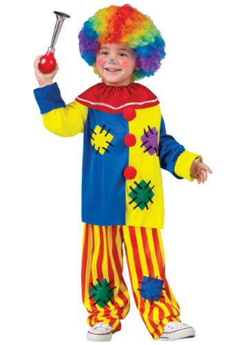 [Fun World Costumes Baby Girl's Big Top Clown Toddler Costume, Yellow, Small] (Small Toddler Toddler Costumes)