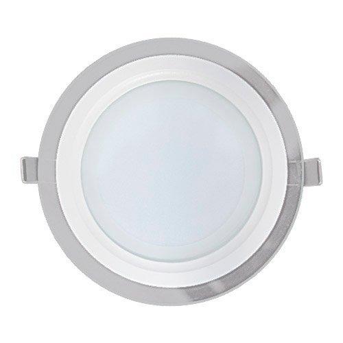 Embutido De Led Redondo Com Vidro 6w - Branco Quente