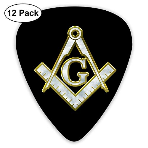 NEST-Homer Freemasonry Guitar Picks Bass Ukulele Mandolin Plectrum Musical Instruments 12-Pack for Musical Gift