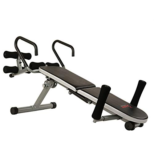 Sunny Health & Fitness Invert Extend N Go Back Stretcher Bench with 350lb High Weight Capacity and Adjustable Stretch and Height Settings