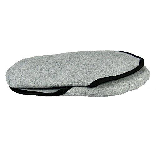Museumspantoffeln leichte Überpantoffel Überzieher - Synthetikfilz - wahlweise m/o ABS-Filzsohle Grau