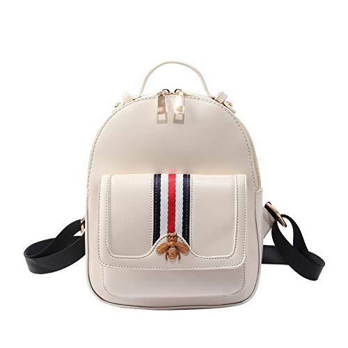 Cuir Blanc Mode Sacs Orné à AllhqFashion PU Tout Blanc FBUFBC182290 bandoulière fourre Sacs Femme AO0xnXqZ