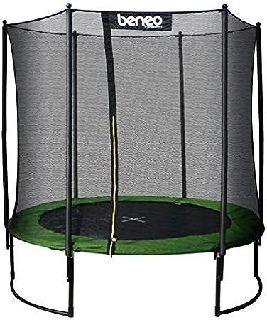 Beneo Trampolines Premium Gartentrampolin Trampolin Komplettset Inklusive Sprungmatte Sicherheitsnetz Gepolsterten Netzpfosten Und Randabdeckung 244 Cm Amazon De Sport Freizeit