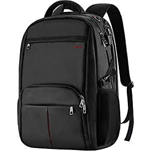 Large Laptop Backpack,17.3 inch TSA Durable Business Slim Travel Laptop Backpack with USB Charging Port for Women Men,Water Resistant Anti Theft Big College School Backpack for 17 inch Laptop Notebook