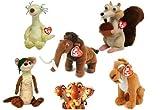 ice age manny plush - TY Beanie Babies Ice Age Set of 5 - Scrat Manny Sid Diego Buck plush toys by TY