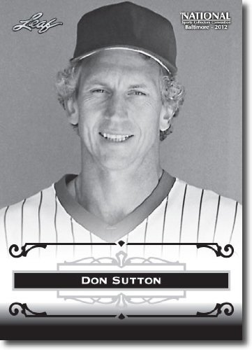 2012 Leaf HOF Baltimore National Sports Collector Promo #DS1 Don Sutton - Los Angeles Dodgers (Baseball Hall of Fame)(Collectible Trading Card)