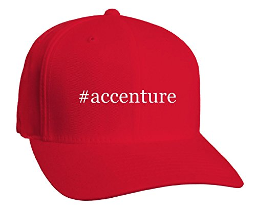 accenture-hashtag-adult-baseball-hat-red-large-x-large
