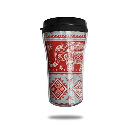 - Personalized Tumblers Custom Vintage Indian Lotus Elephant Stainless Steel Tumbler Coffee Mug DIY Tumbler Travel Cup
