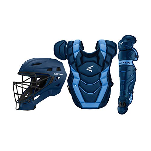 Blue Catchers - Easton Elite x Custom Catcher Box Set Elite-x Custom Catchers Set INT NY/CB, Navy/Carolina Blue, Intermediate
