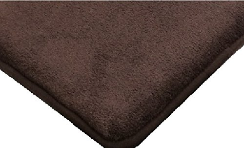 "Maxcare 54""X37"" Multi-Purpose XXL Extra Large Big Luxury Cooling Memory Foam Brown Color Velour Fleece Rug Mat for Bathroom/Kitchen/Yoga/Fitness/Playground/Travel or Pet Bed"