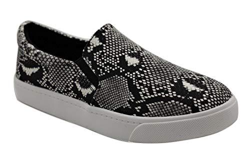 Soda Top Shoe Reign Women's Closed Toe Slip on Sneaker Loafer